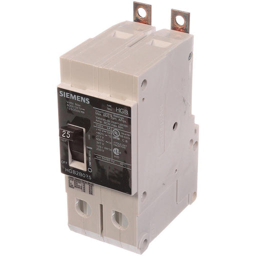 HGB2B025B - Siemens 25 Amp 2 Pole 600 Volt Bolt-On Molded Case Circuit Breaker