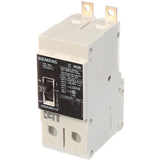 HGB2B030B - Siemens 30 Amp 2 Pole 600 Volt Bolt-On Molded Case Circuit Breaker