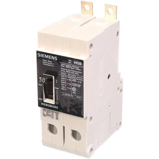 HGB2B050B - Siemens 50 Amp 2 Pole 600 Volt Bolt-On Molded Case Circuit Breaker