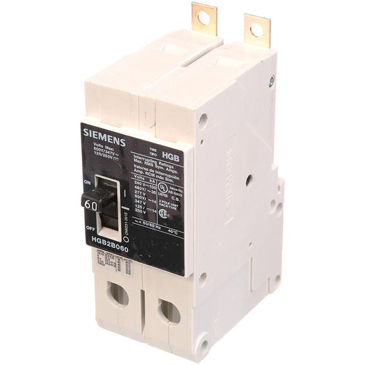 HGB2B060B - Siemens 60 Amp 2 Pole 600 Volt Bolt-On Molded Case Circuit Breaker