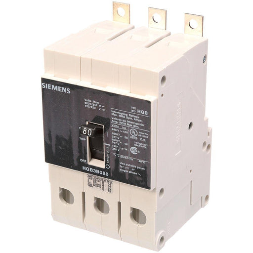 HGB3B080B - Siemens 80 Amp 3 Pole 600 Volt Bolt-On Molded Case Circuit Breaker