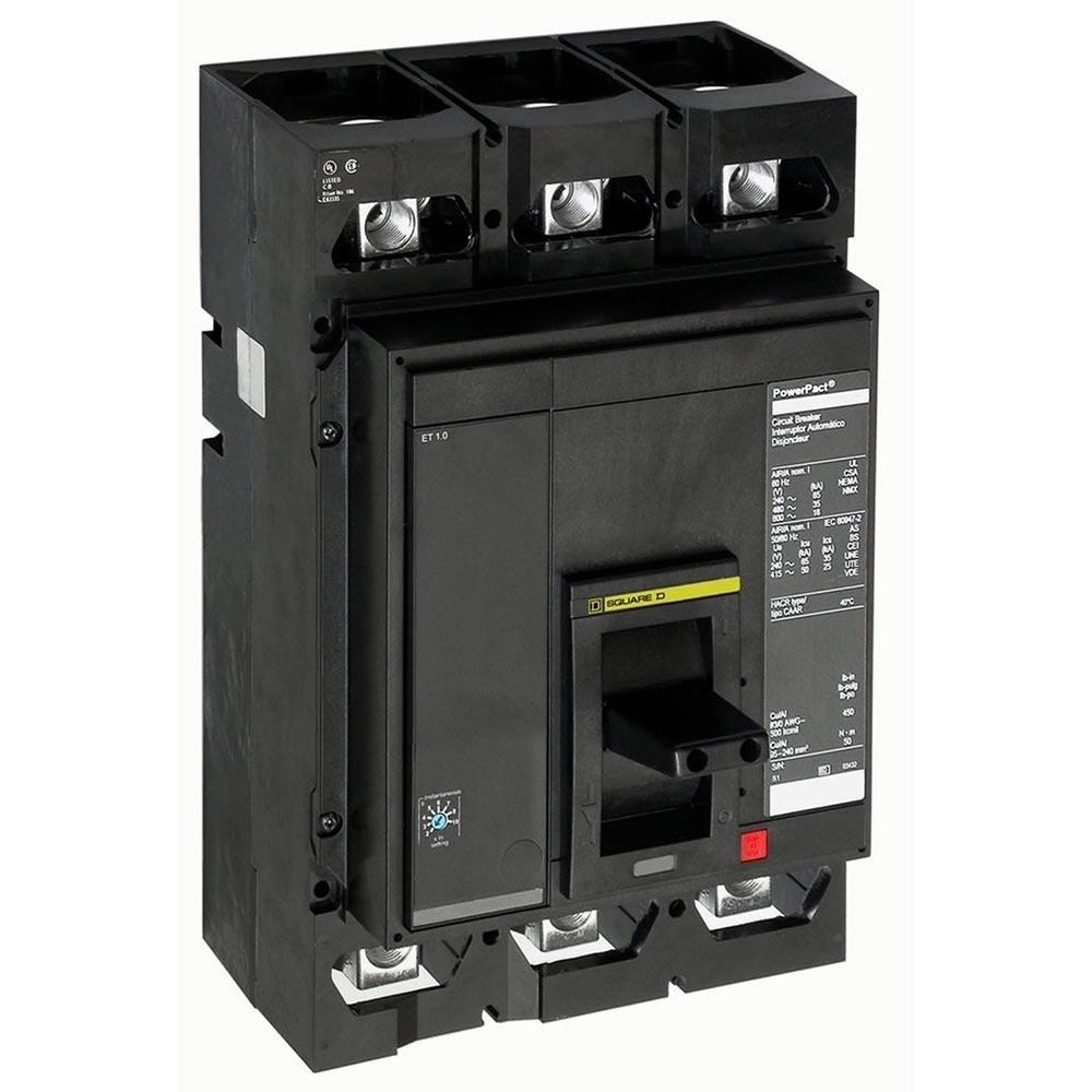 MGL36450 - Square D 450 Amp 3 Pole 600 Volt Solid State Molded Case Circuit Breaker