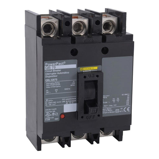 QBL32090 - Square D 90 Amp 3 Pole 240 Volt Thermal Magnetic Molded Case Circuit Breaker