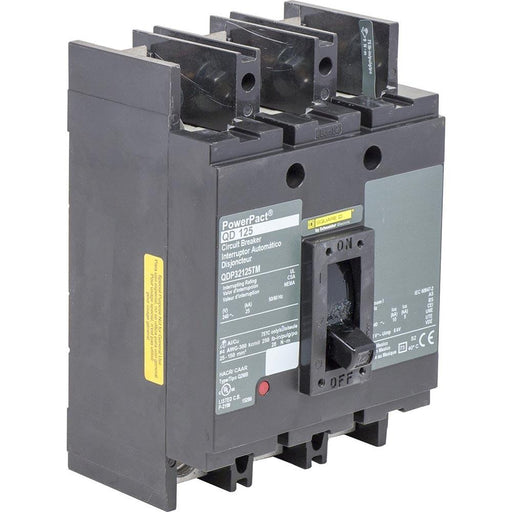 QDP32125TM - Square D 125 Amp 3 Pole 240 Volt Molded Case Circuit Breaker