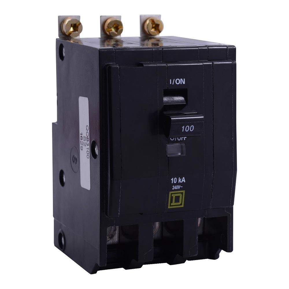 QOB3100VH - Square D 100 Amp 3 Pole 240 Volt Bolt-On Circuit Breaker