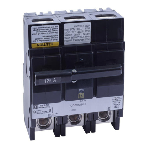 QOB3125VH - Square D 125 Amp 3 Pole 240 Volt Bolt-On Circuit Breaker