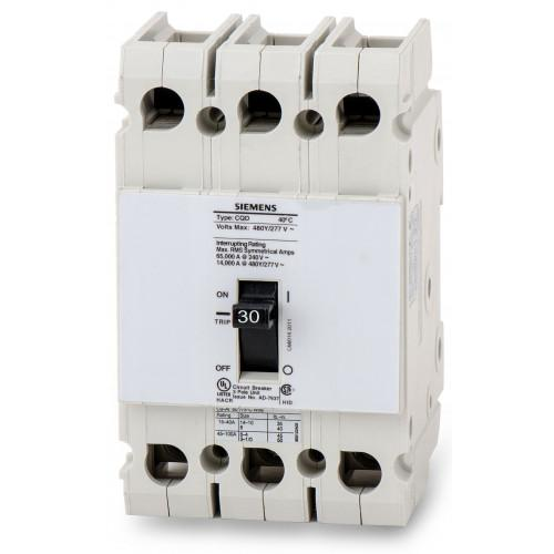 CQD330 - Siemens 30 Amp 3 Pole 480 Volt Molded Case Circuit Breaker