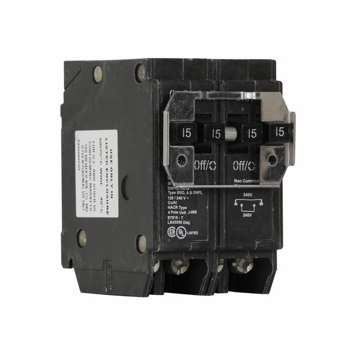 DNPL215240 - Eaton Cutler-Hammer Quad 15 Amp Double Pole & 40 Amp Double Pole Circuit Breaker