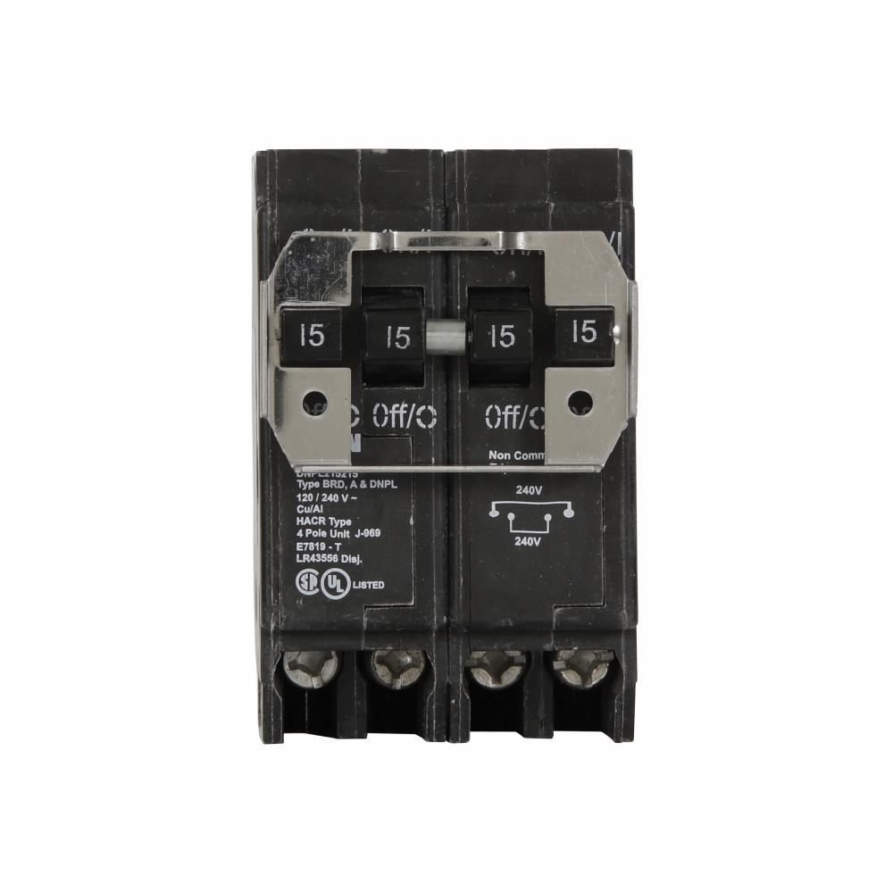 DNPL215215 - Eaton Cutler-Hammer Quad 15 Amp Double Pole & 15 Amp Double Pole Circuit Breaker