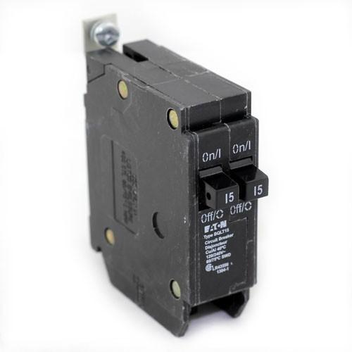 BQLT15 - Commander Twin 15 Amp Circuit Breaker