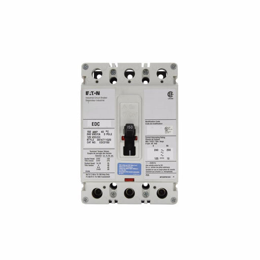 EDC3175L - Eaton Cutler-Hammer 175 Amp 3 Pole 240 Volt Molded Case Circuit Breakers