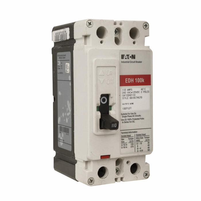 EDH2125L - Eaton Cutler-Hammer 125 Amp 2 Pole 240 Volt Molded Case Circuit Breakers