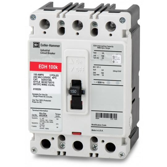 EDH3150L - Eaton Cutler-Hammer 150 Amp 3 Pole 240 Volt Molded Case Circuit Breakers