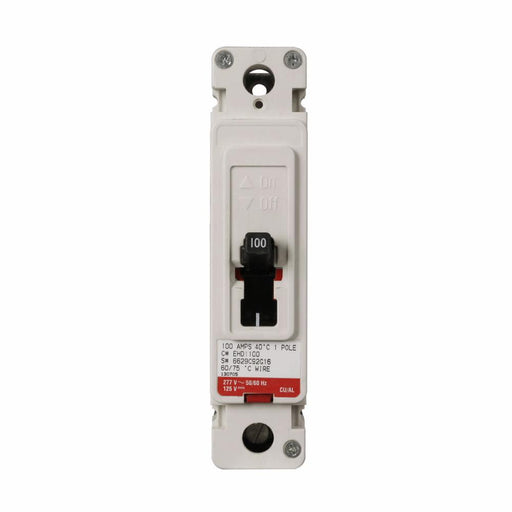 EHD1080L - Eaton Cutler-Hammer 80 Amp 1 Pole 277 Volt Molded Case Circuit Breakers