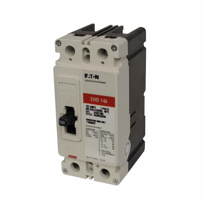 EHD2050L - Eaton Cutler-Hammer 50 Amp 2 Pole 480 Volt Molded Case Circuit Breaker