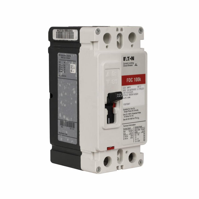 FDC2225L - Eaton Cutler-Hammer 225 Amp 2 Pole 600 Volt Molded Case Circuit Breaker