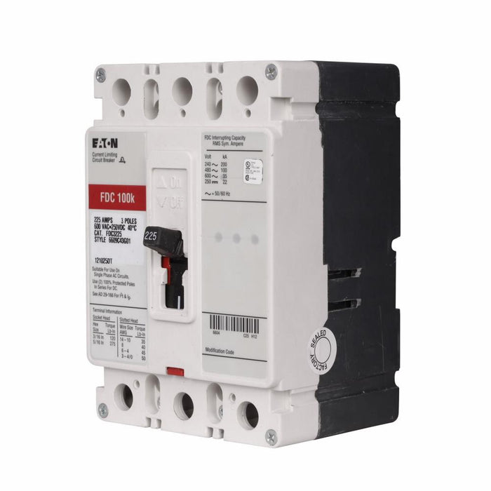 FDC3090L - Eaton Cutler-Hammer 90 Amp 3 Pole 600 Volt Molded Case Circuit Breaker