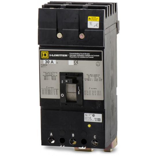 FI36030 - Square D 30 Amp 3 Pole 600 Volt Plug-In Molded Case Circuit Breaker