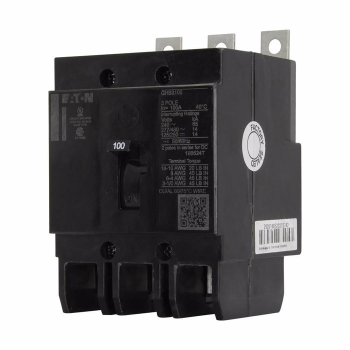 GBH3090 - Eaton Cutler-Hammer 90 Amp 3 Pole 600 Volt Molded Case Circuit Breaker