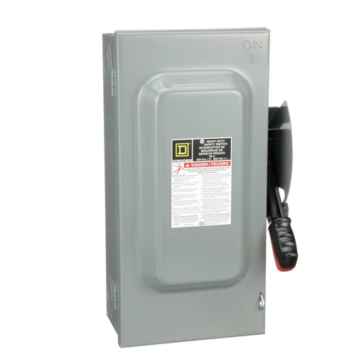 H362 - Square D 60 Amp 3 Pole 600 Volt Heavy Duty Indoor Safety Switch