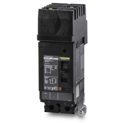 HDA261251 - Square D 125 Amp 2 Pole 600 Volt Plug-In Molded Case Circuit Breaker
