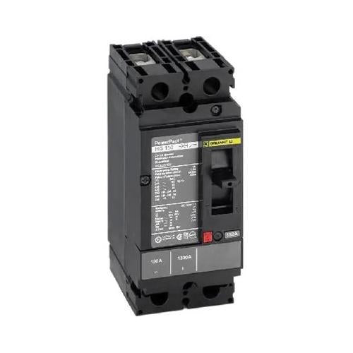 HDL26100 - Square D 100 Amp 2 Pole 600 Volt Plug-In Molded Case Circuit Breaker