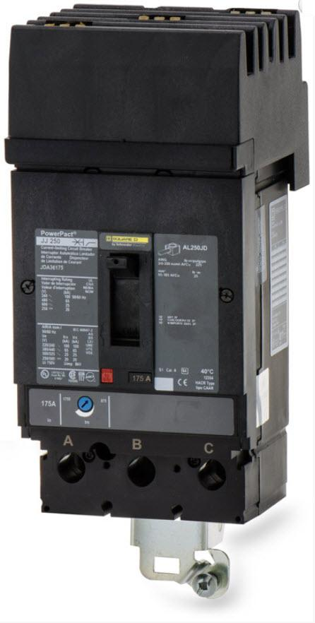 JDA36175 - Square D 175 Amp 3 Pole 600 Volt Molded Case Circuit Breaker