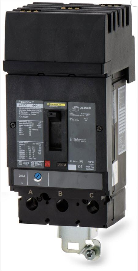 JDA36200 - Square D 200 Amp 3 Pole 600 Volt Molded Case Circuit Breaker