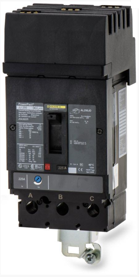 JDA36225 - Square D 225 Amp 3 Pole 600 Volt Molded Case Circuit Breaker