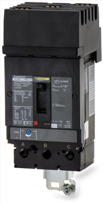JDA36250 - Square D 250 Amp 3 Pole 600 Volt Molded Case Circuit Breaker