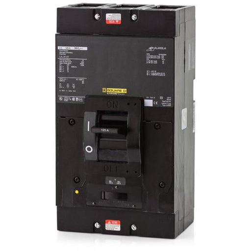 LAL36125 - Square D 125 Amp 3 Pole 600 Volt Molded Case Circuit Breaker