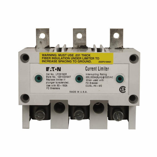 LFD3070R - Eaton Cutler-Hammer 70 Amp 3 Pole Volt Molded Case Circuit Breaker Current Limiter