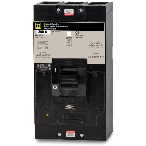 LHL36200 - Square D 200 Amp 3 Pole 600 Volt Molded Case Circuit Breaker