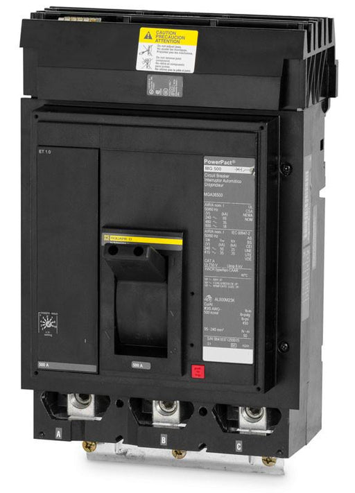 MGA36500 - Square D 500 Amp 3 Pole 600 Volt Molded Case Circuit Breaker