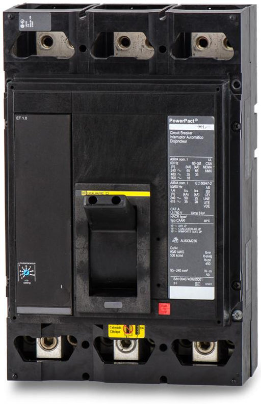 MGL36700 - Square D 700 Amp 3 Pole 600 Volt Thermal Magnetic Molded Case Circuit Breaker