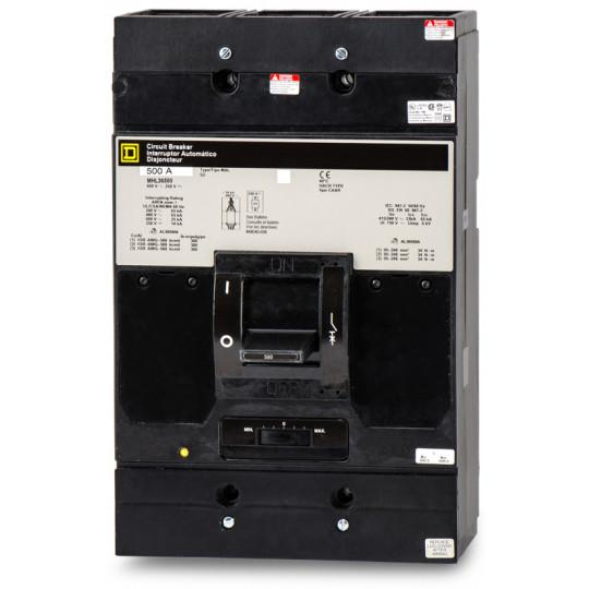 MHL36500 - Square D 500 Amp 3 Pole 600 Volt Thermal Magnetic Molded Case Circuit Breaker