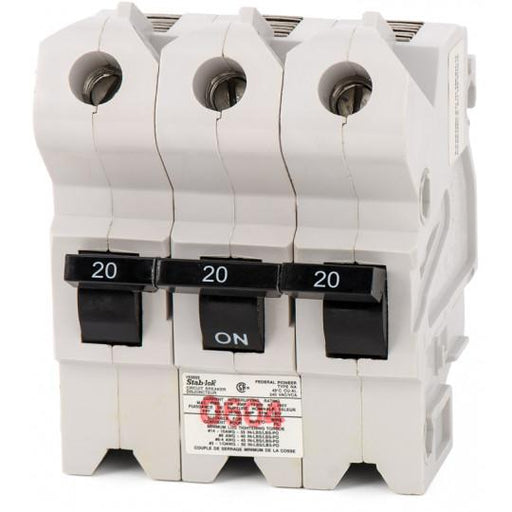 NA3P20 - Federal Pioneer 20 Amp 3 Pole Circuit Breaker