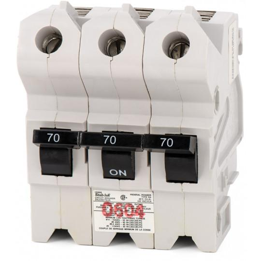 NA3P70 - Federal Pioneer 70 Amp 3 Pole Circuit Breaker