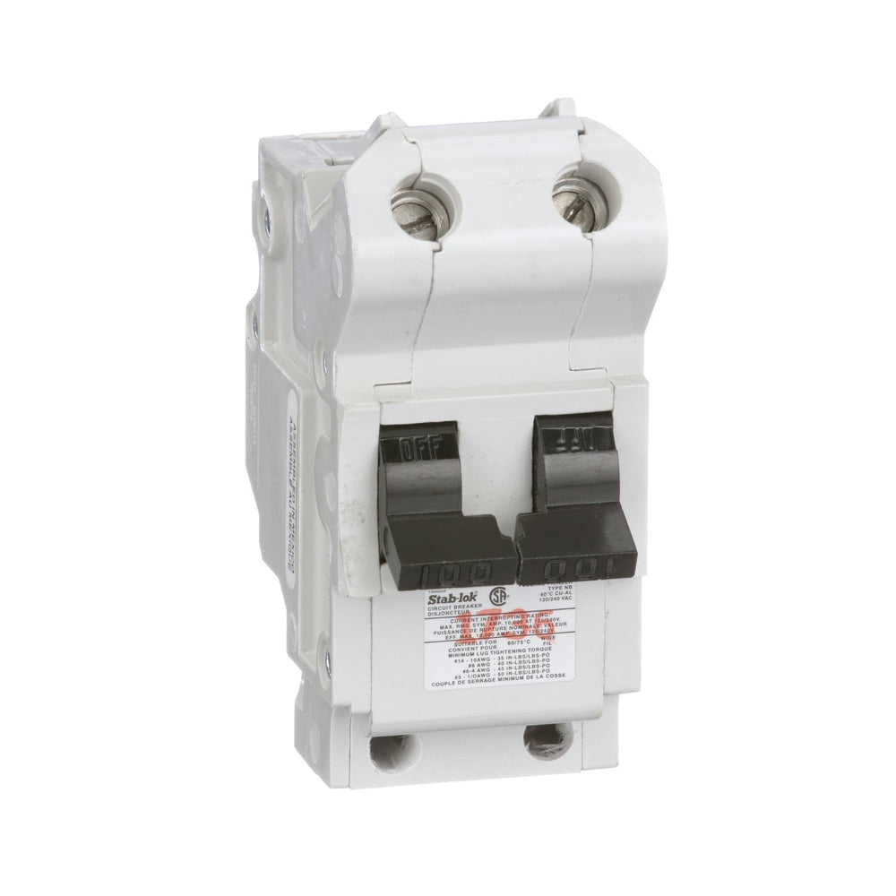 NB2P100 - Federal Pioneer 100 Amp Double Pole Bolt-On Circuit Breaker