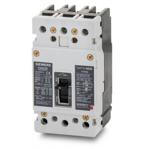 NEB3B070B - Siemens 70 Amp 3 Pole 480 Volt Bolt-On Molded Case Circuit Breaker
