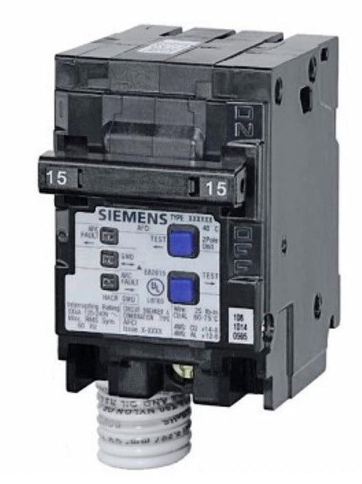 Q215AFC - Siemens 15-Amp Double Pole 120-Volt Combination Type AFCI Circuit