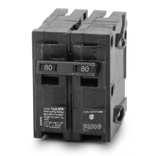 Q280H - Siemens 80 Amp 2 Pole 240 Volt Molded Case Circuit Breaker