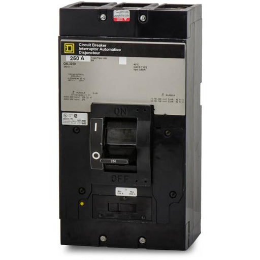 Q4L3250 - Square D 250 Amp 3 Pole 300 Volt Thermal Magnetic Molded Case Circuit Breaker