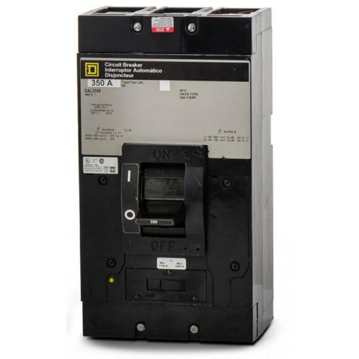 Q4L3350 - Square D 350 Amp 3 Pole 300 Volt Thermal Magnetic Molded Case Circuit Breaker
