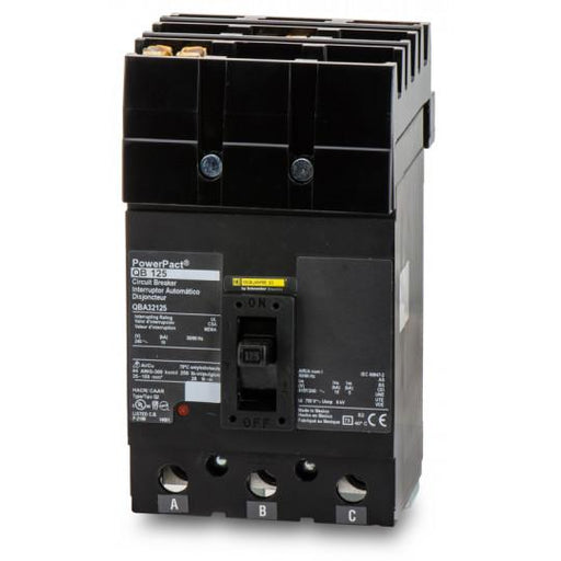 QBA32125 - Square D 125 Amp 3 Pole 240 Volt Molded Case Circuit Breaker