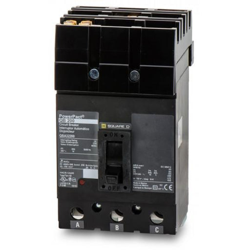 QBA32200 - Square D 200 Amp 3 Pole 200 Volt Molded Case Circuit Breaker