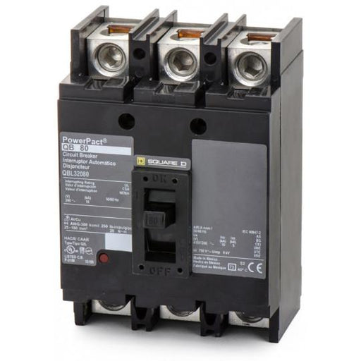 QBL32080 - Square D 080 Amp 3 Pole 200 Volt Molded Case Circuit Breaker