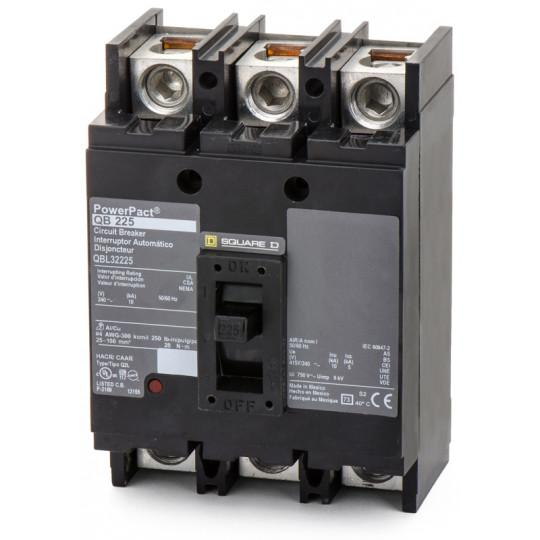 QBL32225 - Square D 225 Amp 3 Pole 200 Volt Thermal Magnetic Molded Case Circuit Breaker