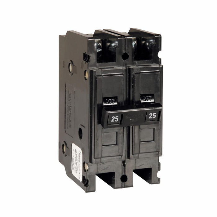 QC2025 - Eaton Cutler-Hammer 25 Amp 2 Pole 240 Volt Molded Case Miniature Circuit Breaker