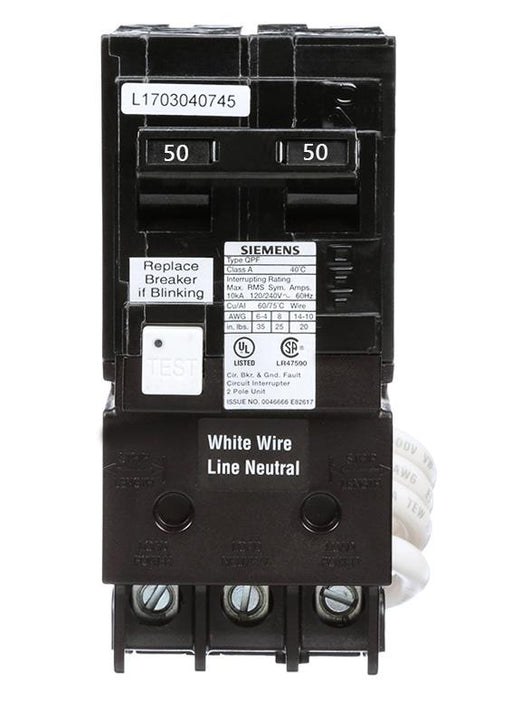 QBH250 Commander  50 Amp Double Pole Bolt-On Circuit Breaker